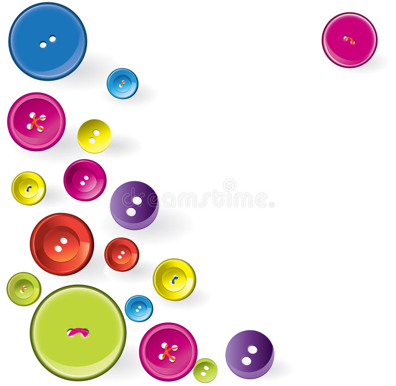 Multicolored Sewing Items royalty free illustration