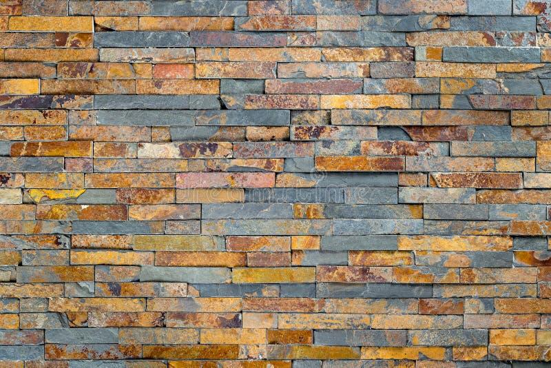 Multicolored slate stone rock background stock photo