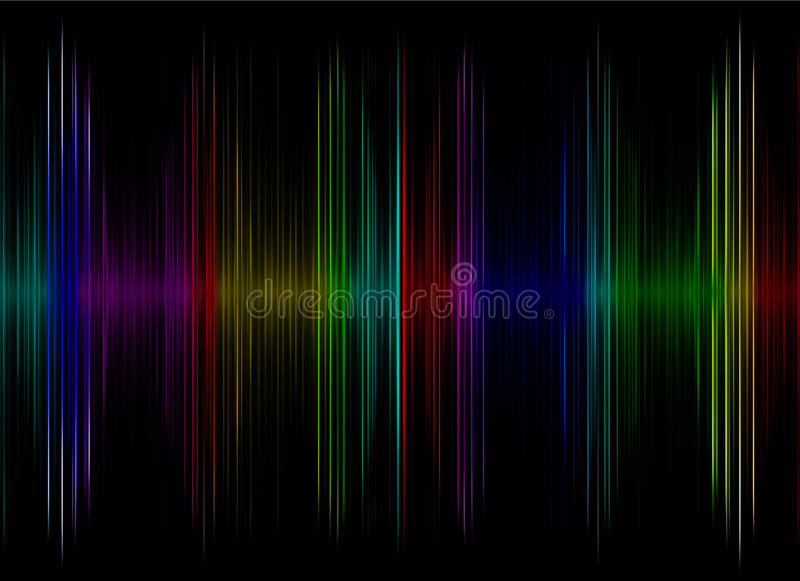 Multicolored sound equalizer display as abstract background. vector illustration