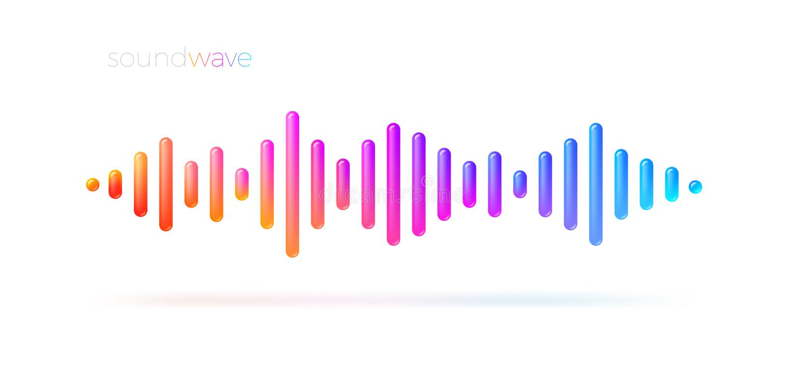 Multicolored sound wave equalizer. royalty free illustration
