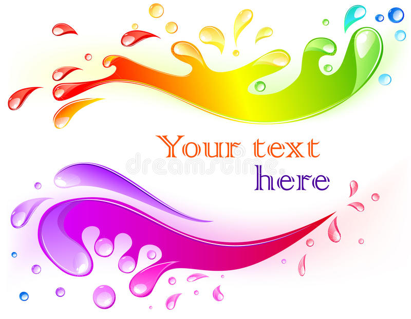 Multicolored Splash Stock Images