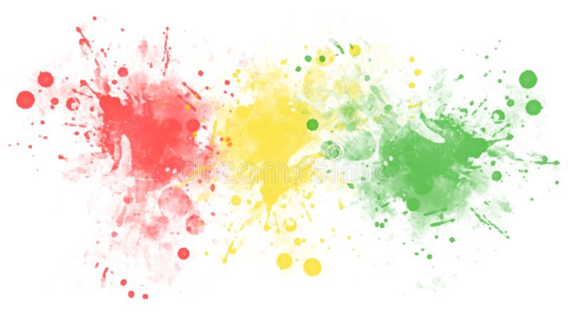 Multicolored spots or splashes of paint. Blots. stock photography