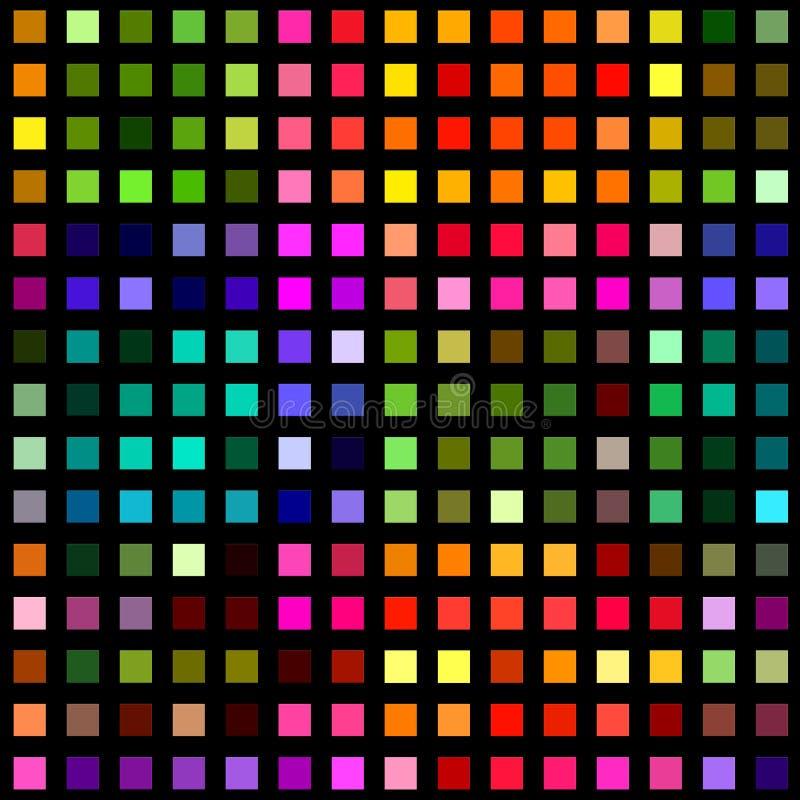 Multicolored square blocks on black. stock photo