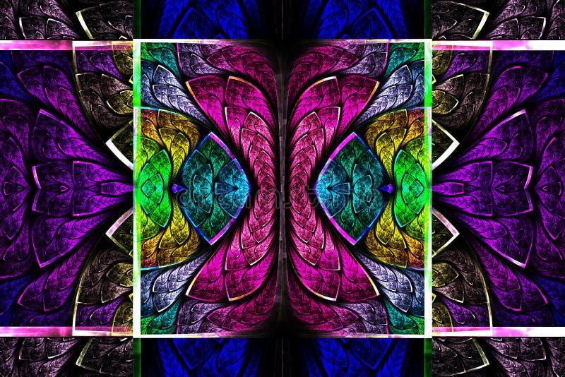 Multicolored symmetrisch geometrisch patroon royalty-vrije illustratie
