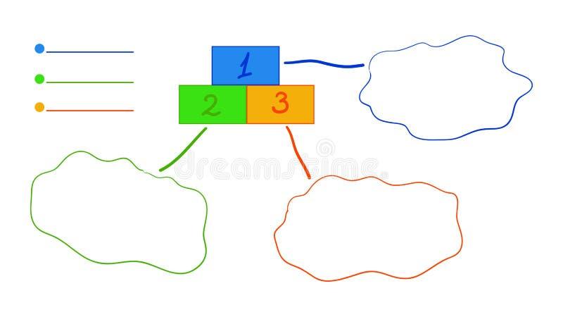 Multicolored task list stock illustration