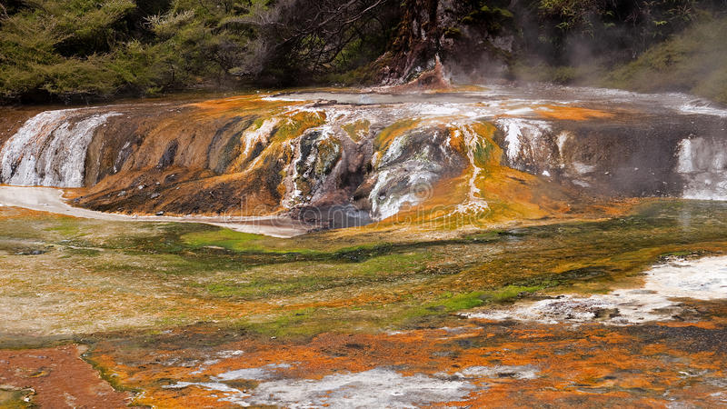 Multicolored terraces are one of the attractions o royalty free stock photography