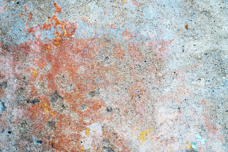 Multicolored texture on the cement wall royalty free stock images
