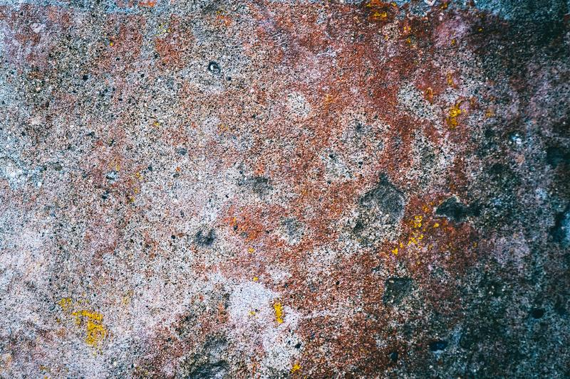 Multicolored texture on the cement wall royalty free stock photography