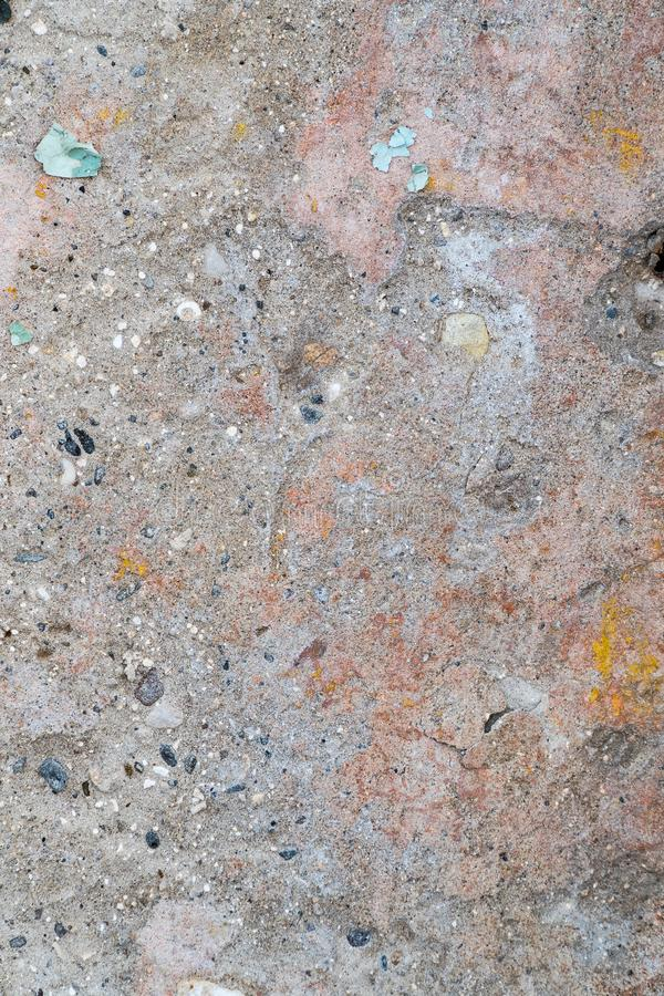 Multicolored texture on the cement wall royalty free stock image