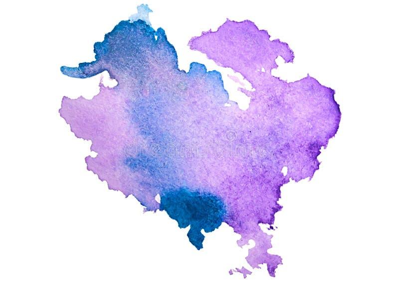 Multicolored textuur van de waterverfplons bevlekt geïsoleerde achtergrond Grungehand getrokken vlek, vlek en druppeltjes Waterco stock illustratie