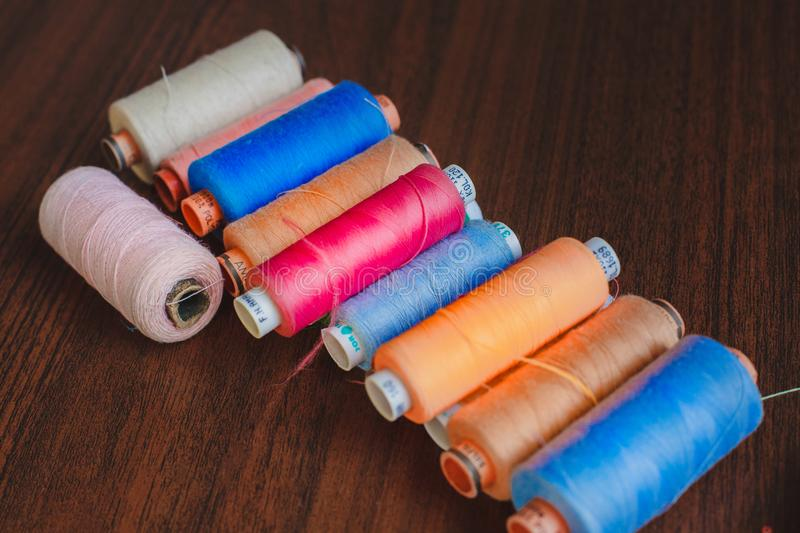 multicolored thread royalty free stock photography