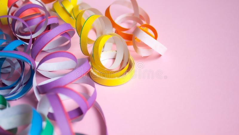 Ticker tape background stock photo