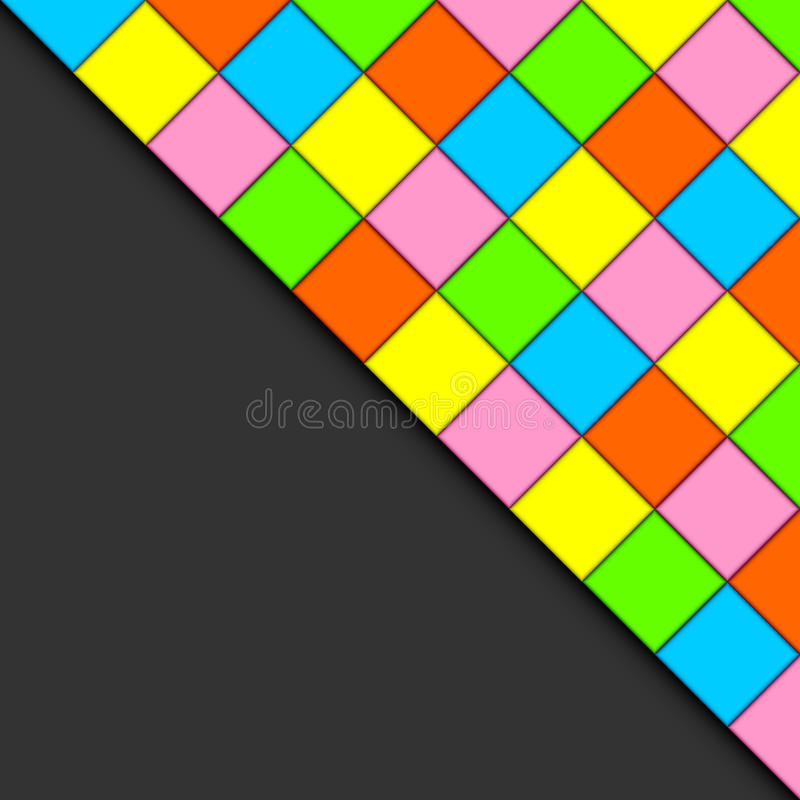 Download Multicolored tiles. stock vector. Image of colorful, combined - 24045546