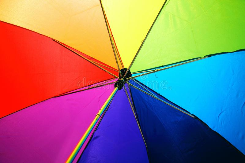 Multicolored Umbrella royalty free stock photo