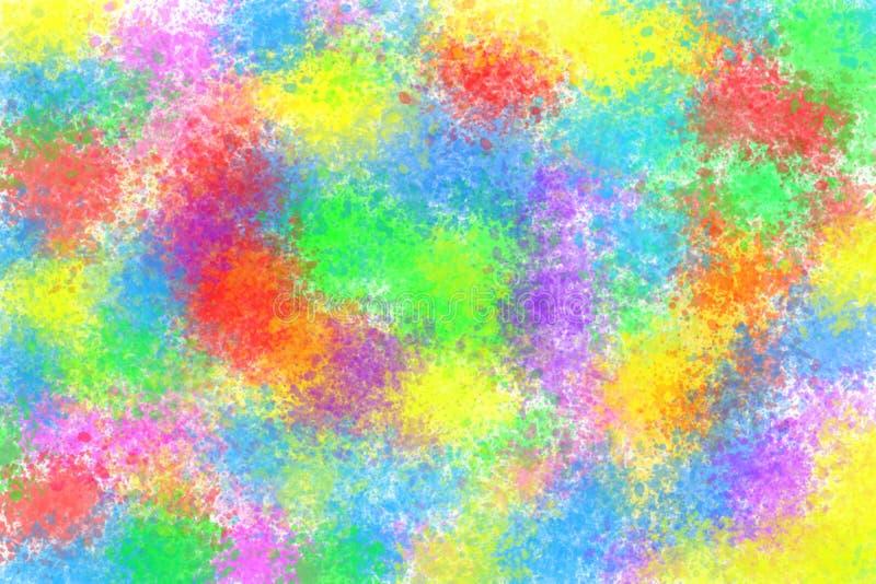Multicolored vlek van de waterverfplons stock illustratie