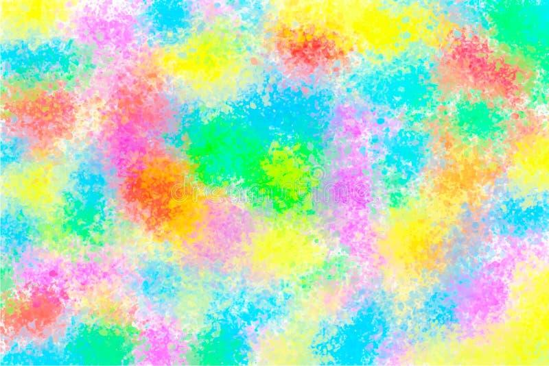 Multicolored vlek van de waterverfplons vector illustratie