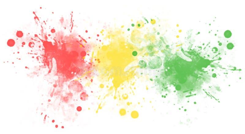Multicolored vlekken of plonsen van verf vlekken stock fotografie