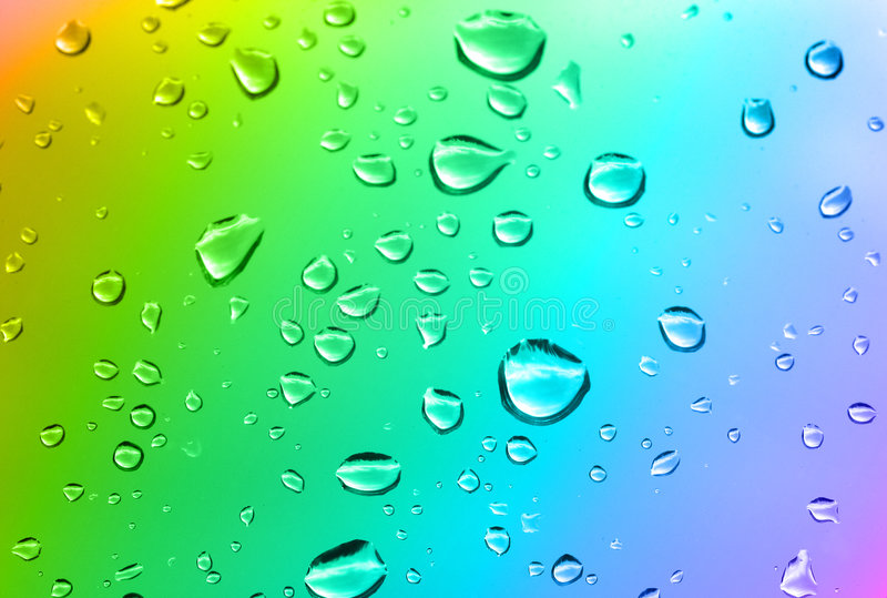 Download Multicolored Water Drops Stock Photography - Image: 3464622