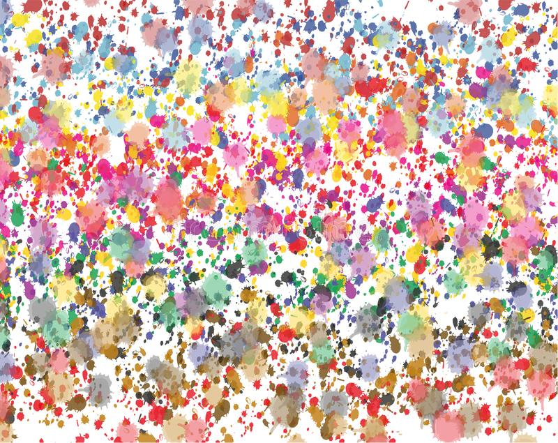 Multicolored watercolors splash background . royalty free illustration