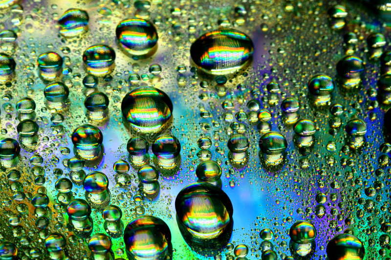 Multicolored waterdrops royalty free stock images