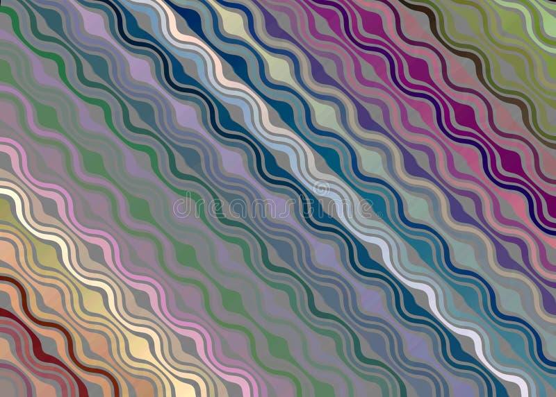 Multicolored wave patterned fantasy background vector illustration