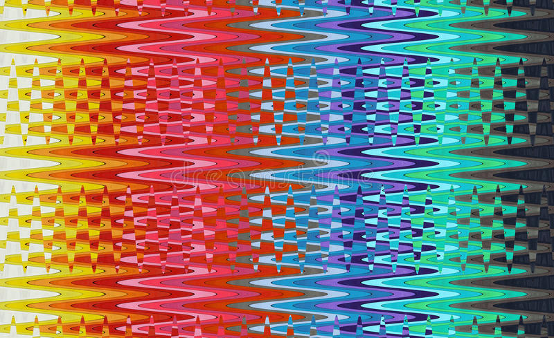 Multicolored Waves. Abstract image of the multicolored waves stock illustration