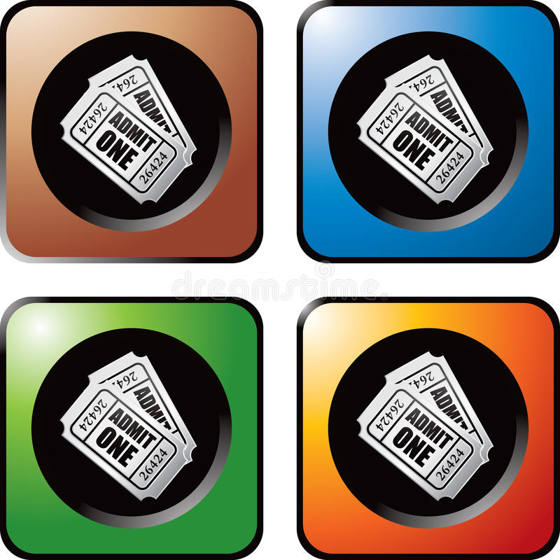 Download Multicolored Web Buttons Admission Tickets Royalty Free Stock Photography - Image: 12054487