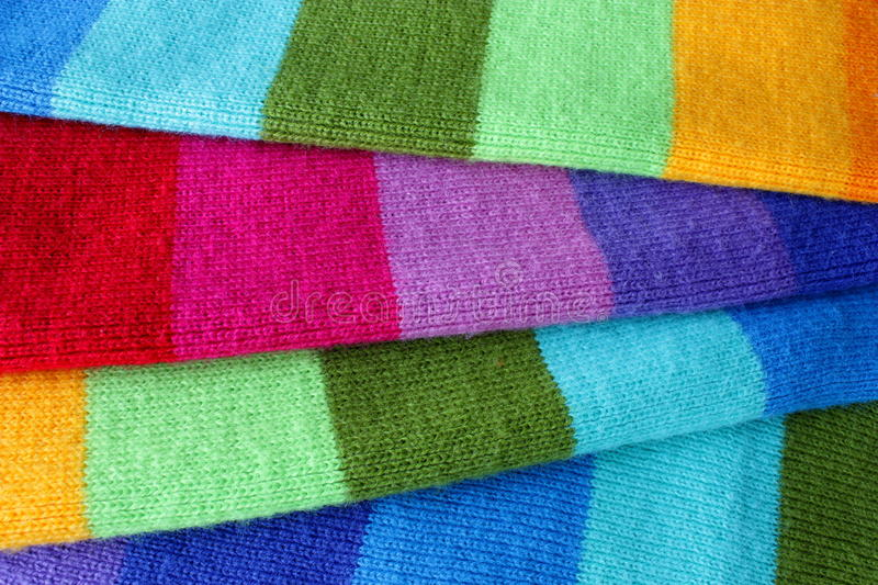 Download Multicolored wool scarf stock image. Image of cloth, comfort - 12382591
