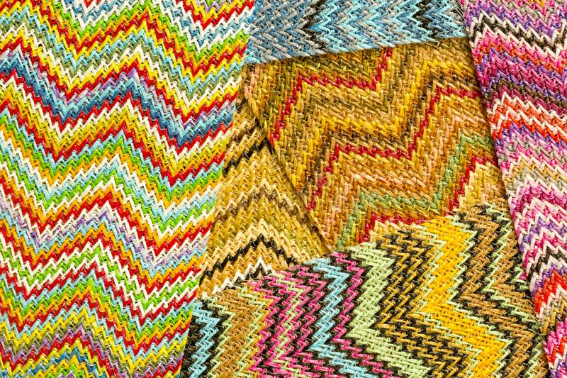 Multicolored Zig Zag seamless Abstract Background royalty free stock image