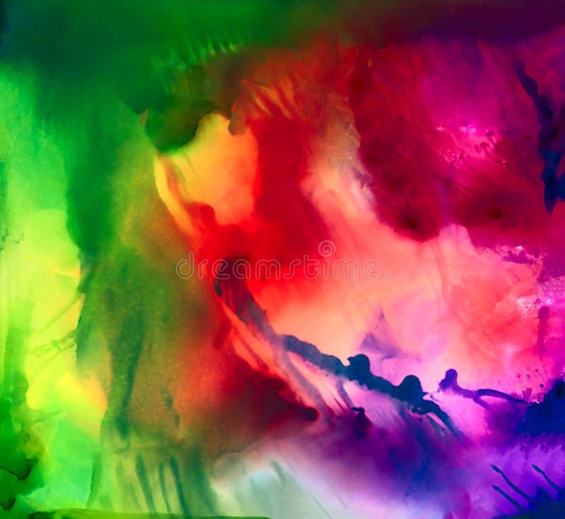 Multicolorido abstrato borrado ilustração stock