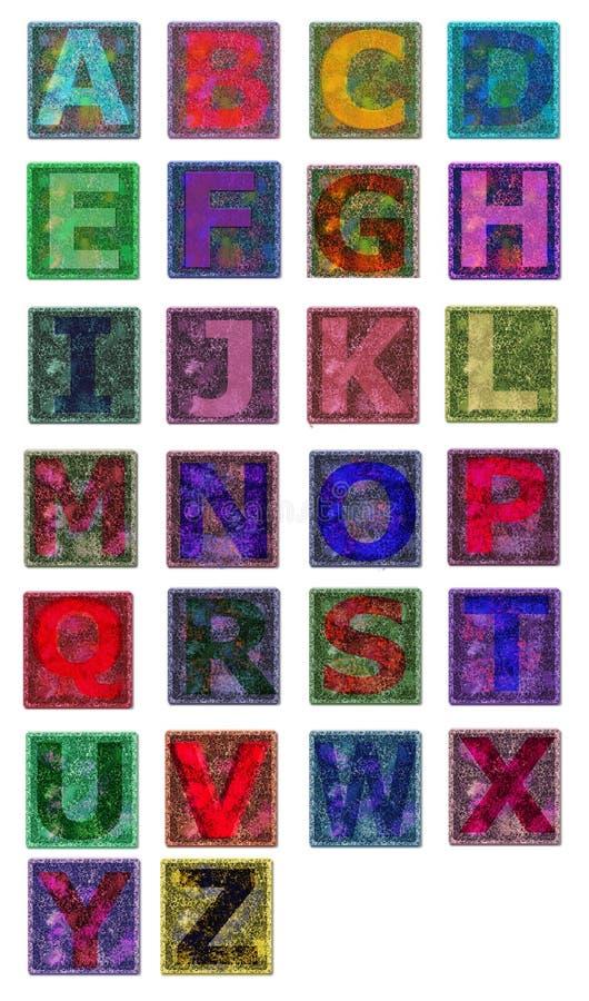 Multicolors алфавита иллюстрация вектора