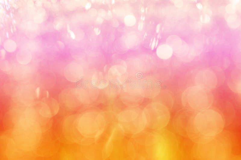 Multicolors-bokeh Zusammenfassungshintergrund, rosa orange und rotes bokeh lizenzfreie stockbilder