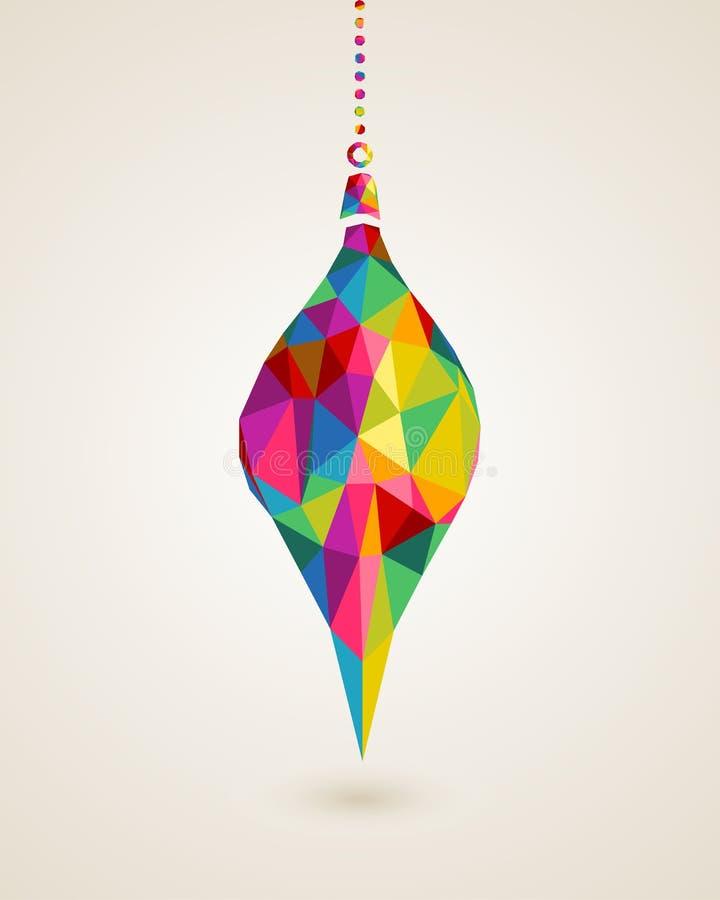 Multicolors de Joyeux Noël accrochant la babiole illustration de vecteur