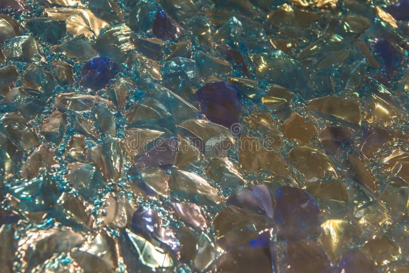 Multicolour крупный план glas Chrystal сломленный стоковые изображения