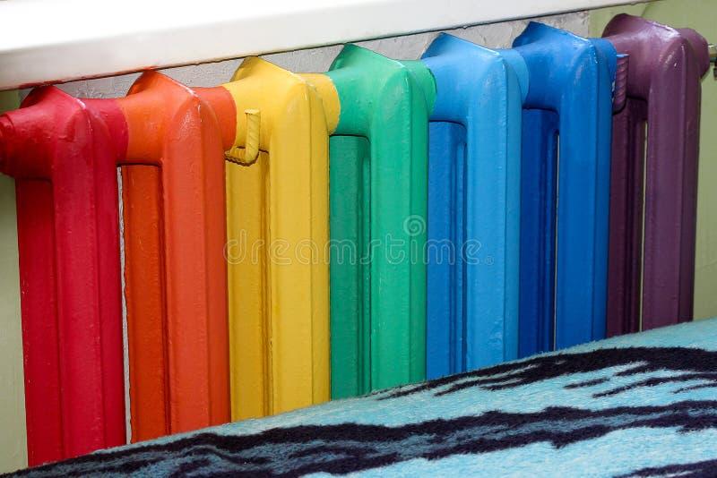Multicolour радиатор стоковое изображение rf