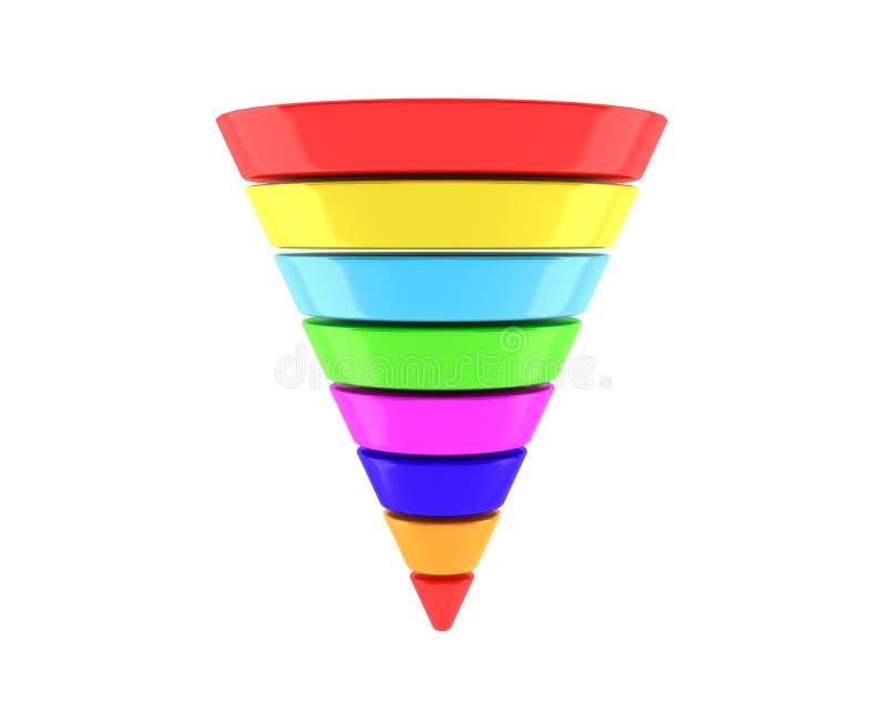 Multicolour Biznesowy Infographic ostrosłup zdjęcia stock