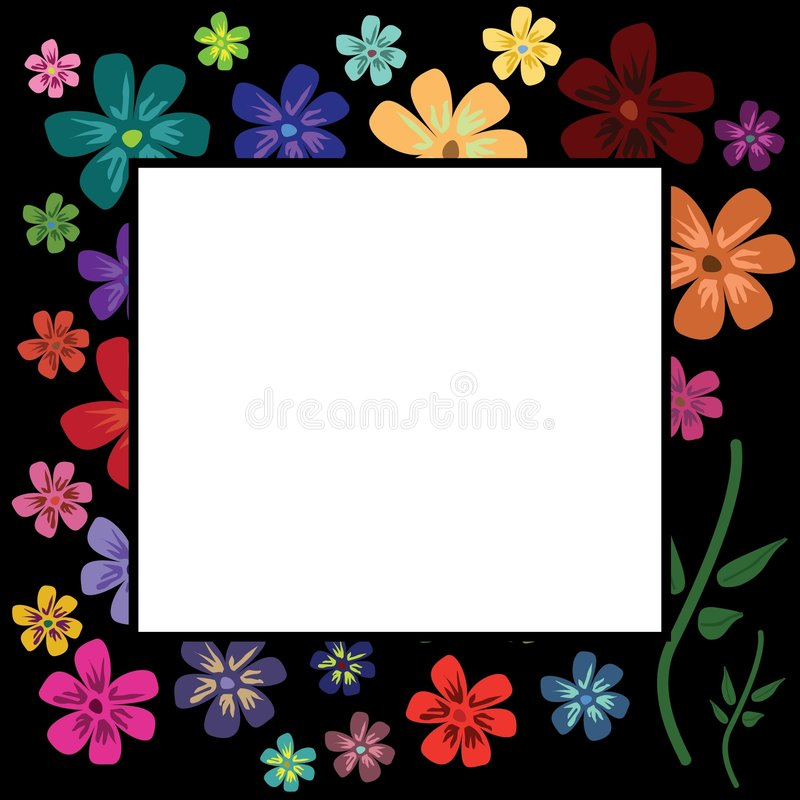 Download Multicolour Floral Frame Stock Photo - Image: 7251240
