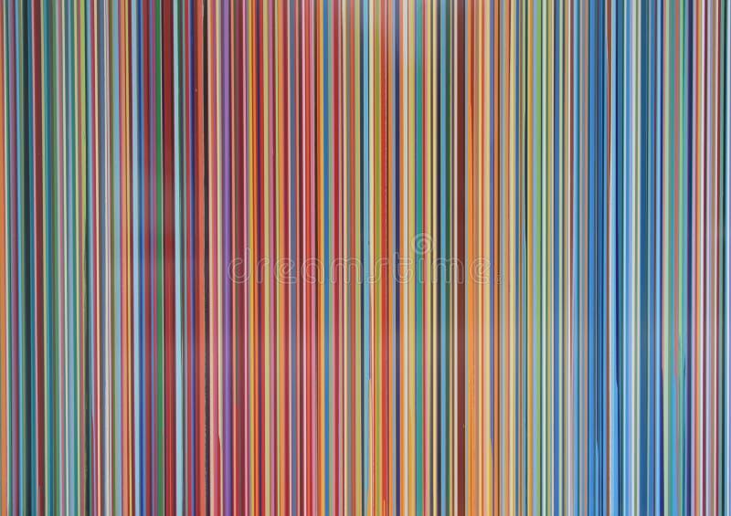 Multicolour moderna vertikala parallella band vektor illustrationer