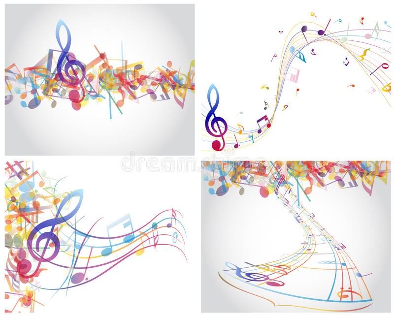 Download Multicolour  musical stock vector. Illustration of shadow - 26663139
