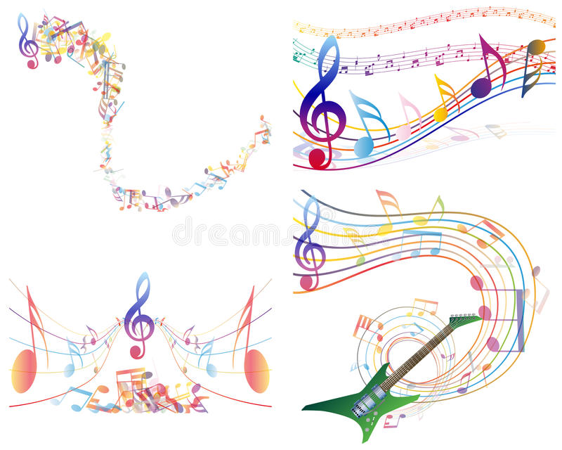 Download Multicolour  musical stock vector. Illustration of sound - 26663153