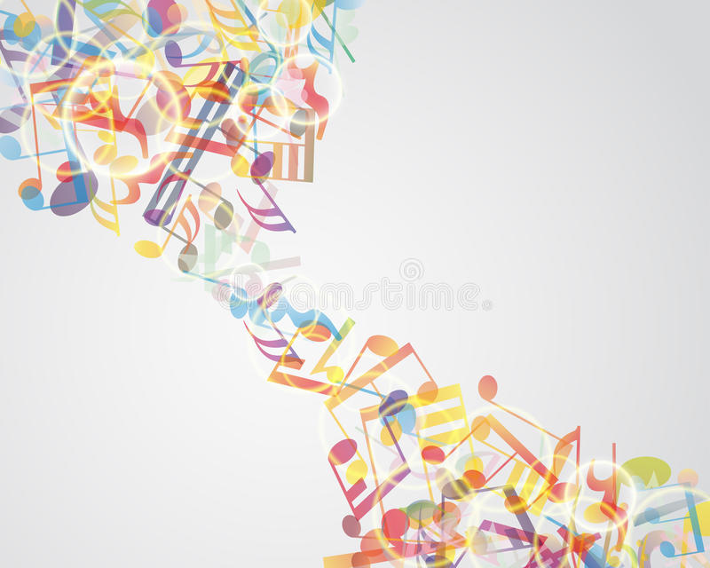 Download Multicolour  musical notes stock vector. Illustration of backdrop - 26640053