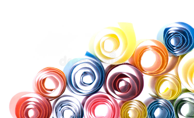 Multicolour Papers Stock Image
