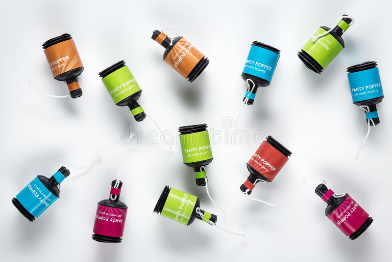 Multicolour partipopcornapparater arkivbilder