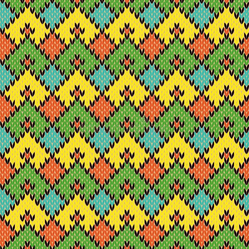 Multicolour Trykotowy Bezszwowy Geometryczny wzór ilustracja wektor