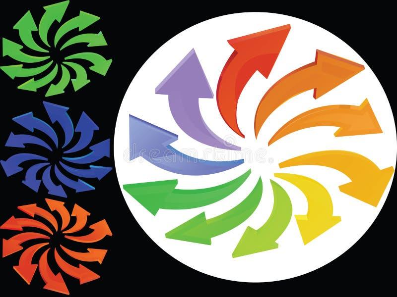 Multicoloured Arrows Stock Photos