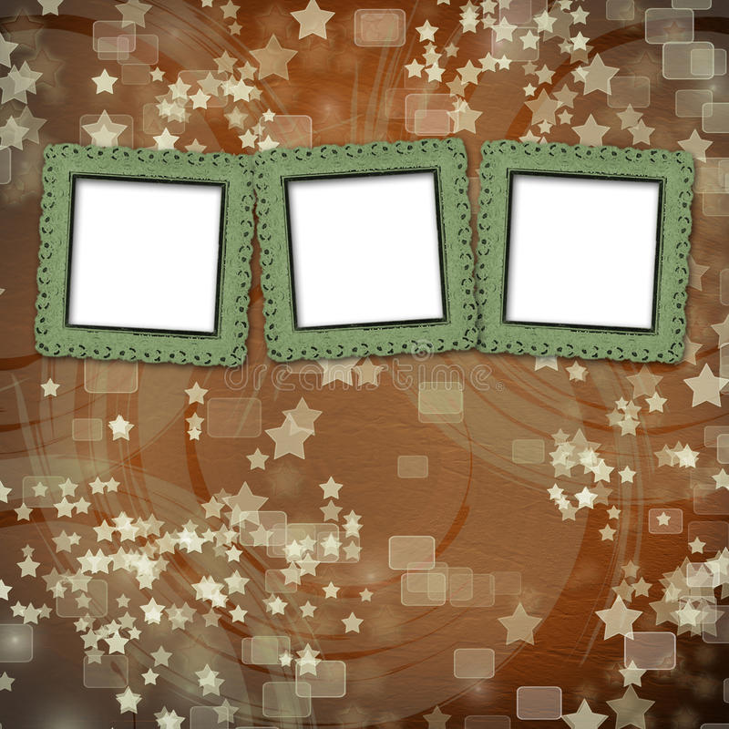 Download Multicoloured Backdrop For Greetings With Frames Stock Illustration - Image: 25840443