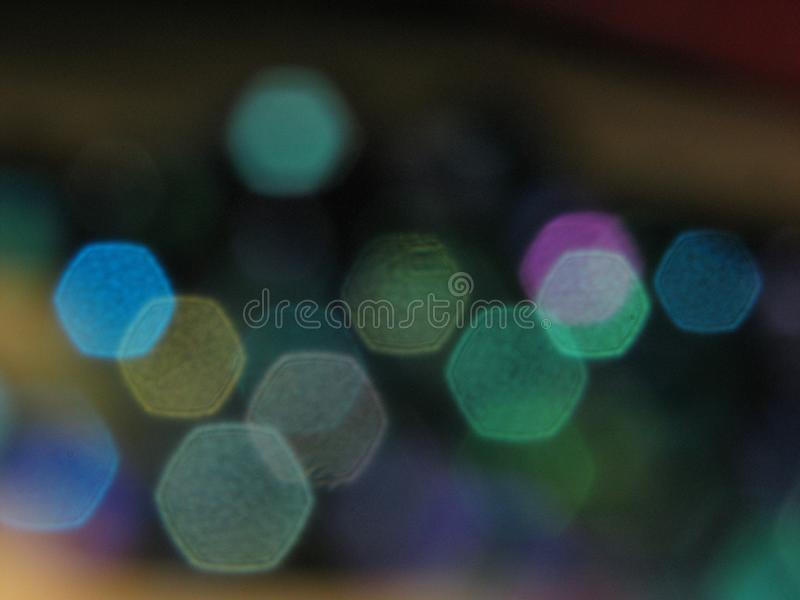 Multicoloured bokehachtergrond stock afbeelding
