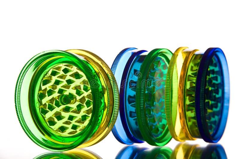 Multicoloured doorzichtige molens royalty-vrije stock afbeelding