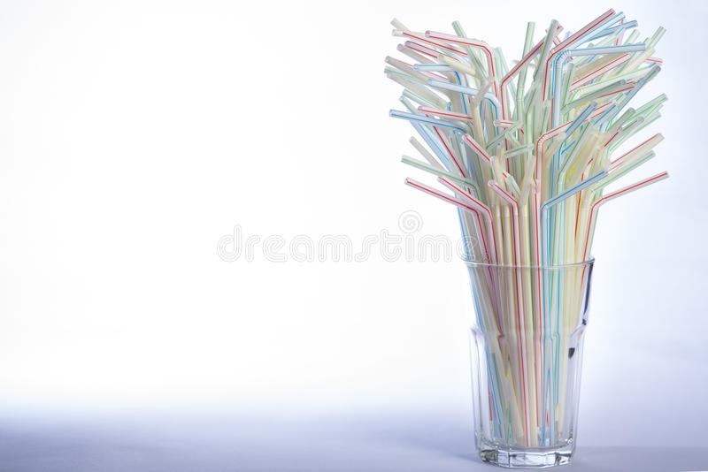 Multicoloured drinking straws royalty free stock images