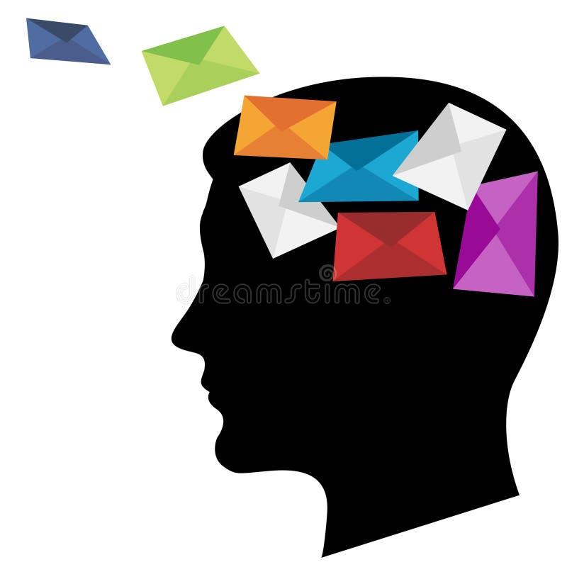 Download Multicoloured envelopes stock vector. Image of envelope - 22448425